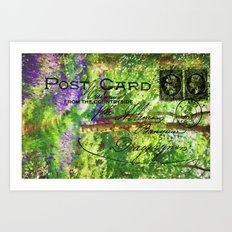 Postcard from the Countryside. Art Print