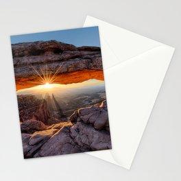 Mesa Arch Sunburst Canyonlands National Park.  by Lena Owens Stationery Cards