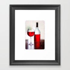 A glass a day Framed Art Print