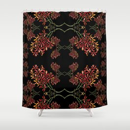 Orchids on Black Shower Curtain
