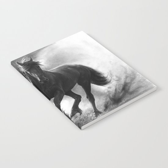 Horse in Storm - GRAPHITE DRAWING Notebook