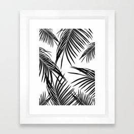 Black Palm Leaves Dream #1 #tropical #decor #art #society6 Framed Art Print