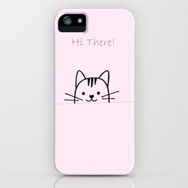 Hi there meaw iPhone Case