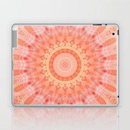 Mandala soft orange 2 Laptop & iPad Skin