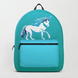 Blue and White Unicorn Backpack