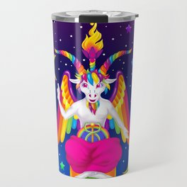 1997 Neon Rainbow Baphomet Travel Mug