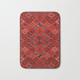 -A30- Red Epic Traditional Moroccan Carpet Design. Bath Mat