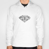 diamond Hoodies featuring Diamond by Linnette Vazquez