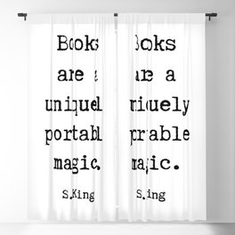 Books are a uniquely portable magic Blackout Curtain