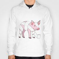 piglet Hoodies featuring Piglet by Doctor Hue