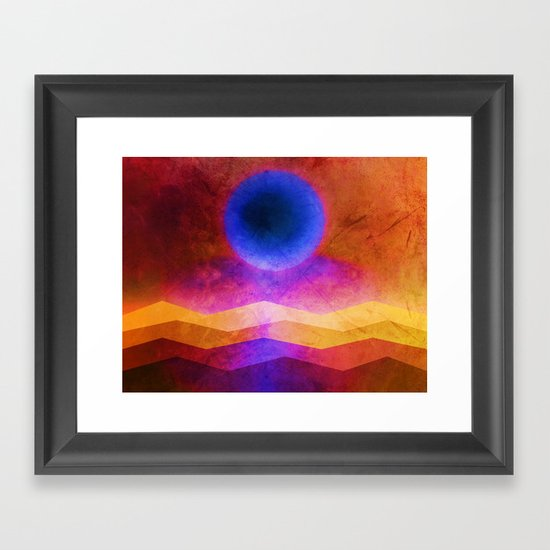 Sea Moon Framed Art Print