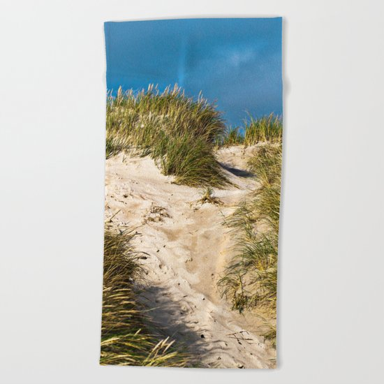 Scandinavian Sand Dune of Henne in Denmark Beach Towel