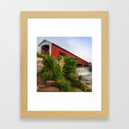 Bridgeton Covered Bridge - Indiana Square Art Framed Art Print
