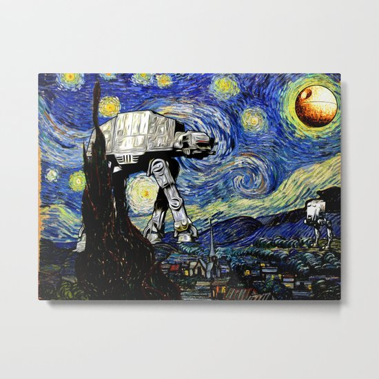 Starry Night versus the Empire Metal Print
