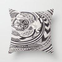 fibonacci Throw Pillows featuring Fibonacci Effect by SRC Creations
