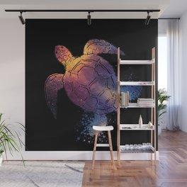 Watercolor Space Turtle Wall Mural