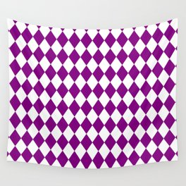Diamonds (Purple/White) Wall Tapestry