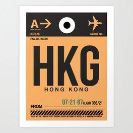 HKG Hog Kong Luggage Tag 2 Art Print