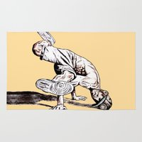 hiphop Area & Throw Rugs featuring B BOY by ARTito