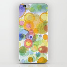 Vividly interacting Circles Ovals and Free Shapes iPhone Skin