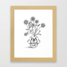 Skull Bouquet Framed Art Print