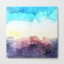 In the sea- abstract watercolor - Original triangle pattern Metal Print