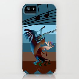Southwest Kokopelli Music iPhone Case