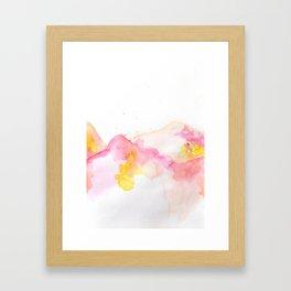 Pink & Yellow Framed Art Print