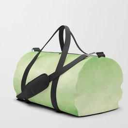 Mozaic design in soft green colors Duffle Bag