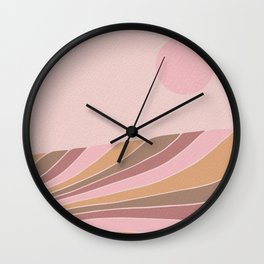 Candy Coloured sunset Wall Clock