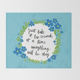 Ten Seconds - Blue Throw Blanket