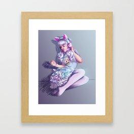 Pastel Kitten Framed Art Print