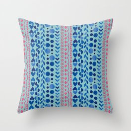 Watercolour Shapes - Magic Villa Throw Pillow