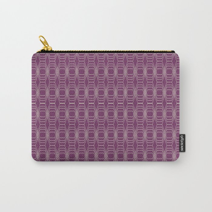 Hopscotch hex-Plum Carry-All Pouch