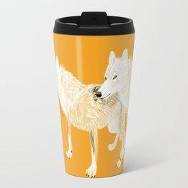 Totem wolf (Canis lupus nubilus (pair) (c) 2017 Travel Mug