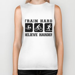 Triathlon Train Hard Gift Biker Tank