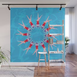 Synchronized Swimmers Wall Mural