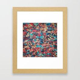 Abstract Geometric Multi-Color Blending Weird Texture Background #06 Framed Art Print