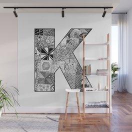 Cutout Letter K Wall Mural