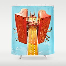 Hastings Fun Fair 1 Shower Curtain