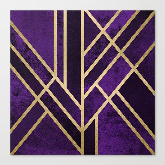Art Deco Royal Canvas Print