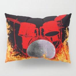 Flaming Red Drum Set Pillow Sham