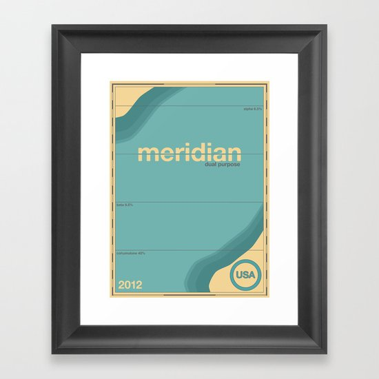 meridian single hop Framed Art Print