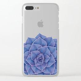 Big Echeveria Design Clear iPhone Case