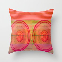 double pink Throw Pillow
