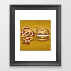Fast Food Phonics Framed Art Print