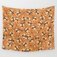 cookie Wall Tapestries featuring Puglie Cookie by Puglie Pug