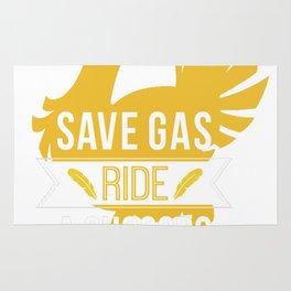 Save Gas Ride a Chocobo Rug