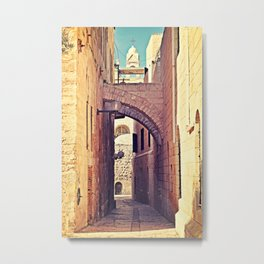 Jerusalem Alley Metal Print