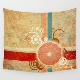 Slice of Citrus Abstract Wall Tapestry